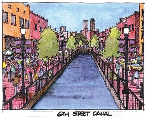 Tulsa 6th Street Canal illustration